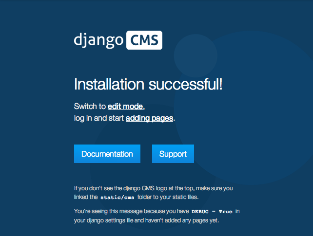 Installing django CMS by hand — django cms 3 3 4 documentation